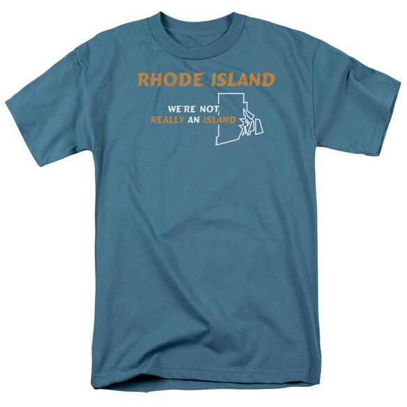 Rhode Island Short Sleeve Adult Slate T-Shirt