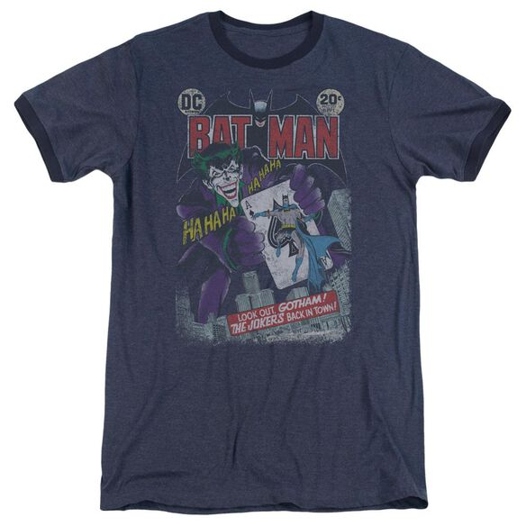 Batman #251 Distressed - Adult Heather Ringer - Navy