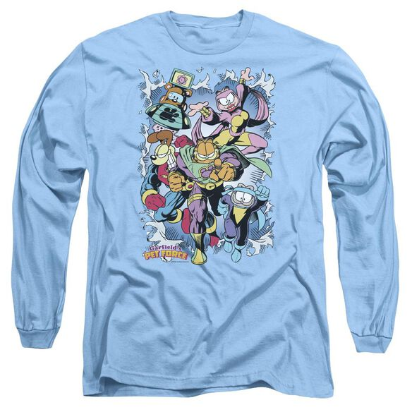 Garfield Ripped Long Sleeve Adult Carolina T-Shirt