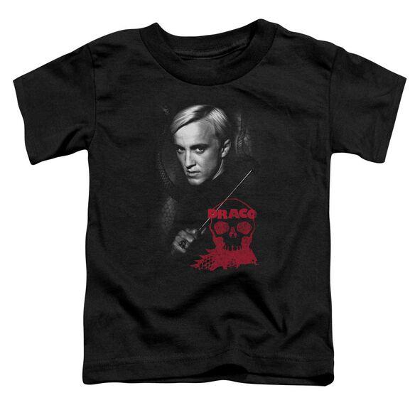 Harry Potter Draco Portrait Short Sleeve Toddler Tee Black T-Shirt