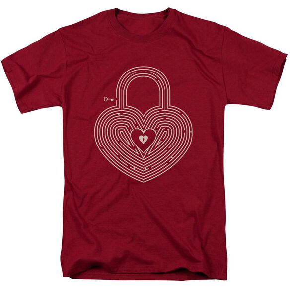 Key To My Heart Short Sleeve Adult Cardinal T-Shirt