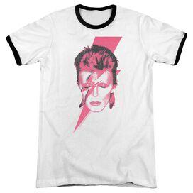David Bowie Aladdin Sane Adult Ringer White Black