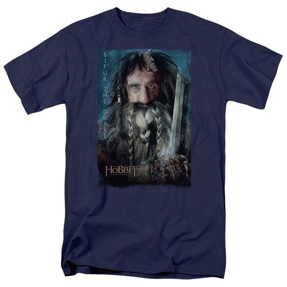 The Hobbit Bifur Short Sleeve Adult Navy T-Shirt