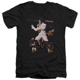 Elvis Hit The Lights Short Sleeve Adult V Neck T-Shirt