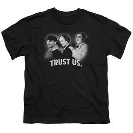 Three Stooges Turst Us Short Sleeve Youth T-Shirt