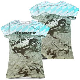 Hummer Trek (Front Back Print) Short Sleeve Junior Poly Crew T-Shirt