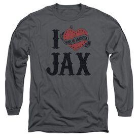Sons Of Anarchy I Heart Jax Long Sleeve Adult T-Shirt