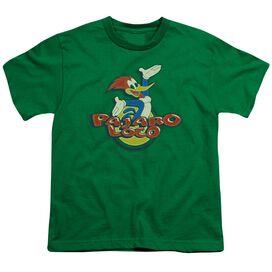 Woody Woodpecker Loco Short Sleeve Youth Kelly T-Shirt