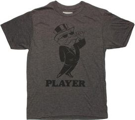 Monopoly Player Charcoal T-Shirt Sheer