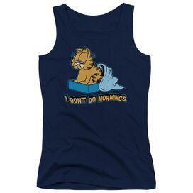 Garfield I Don't Do Mornings Juniors Tank Top
