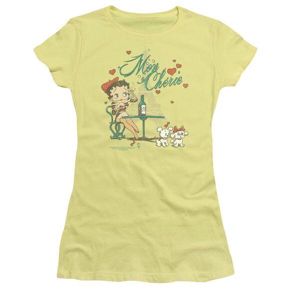 Betty Boop Mon Cherie Short Sleeve Junior Sheer T-Shirt