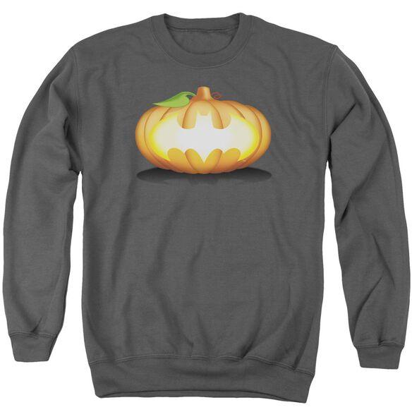 Batman Bat Pumpkin Logo Adult Crewneck Sweatshirt