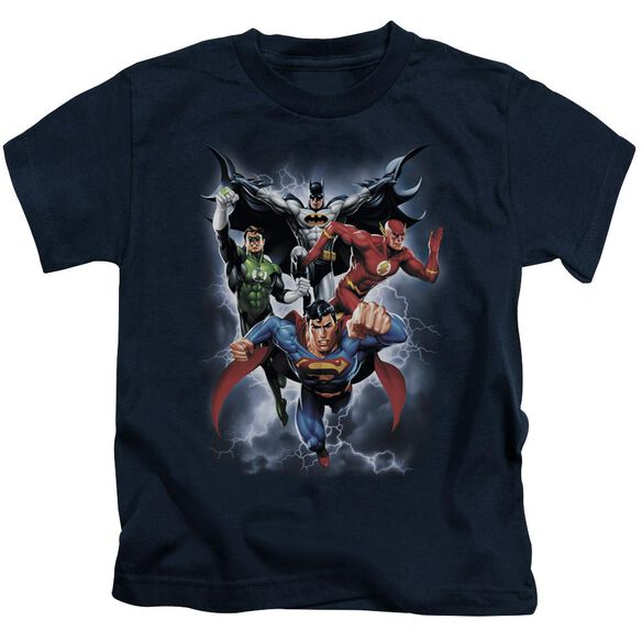 Jla The Coming Storm Short Sleeve Juvenile Navy T-Shirt