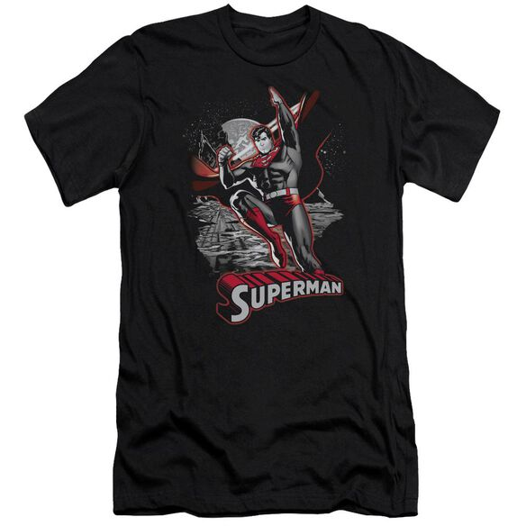 Jla Superman Red & Gray Premuim Canvas Adult Slim Fit