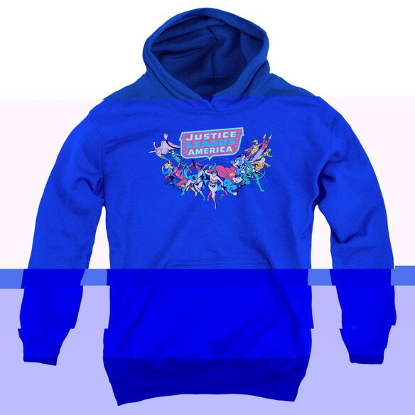 Dc Here They Come-youth Pull-over Hoodie - Royal