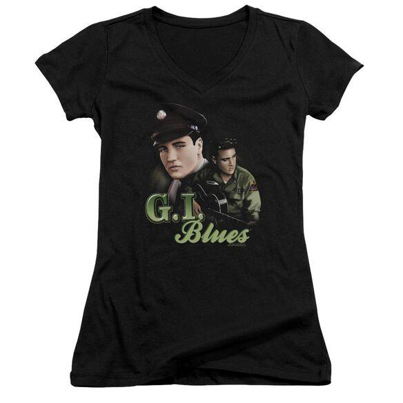 Elvis Presley G I Blues - Junior V-neck - Black