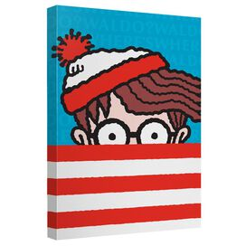 Wheres Waldo Stripes Canvas Wall Art With Back Board