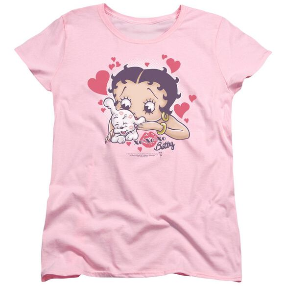 Betty Boop Puppy Love Short Sleeve Womens Tee T-Shirt