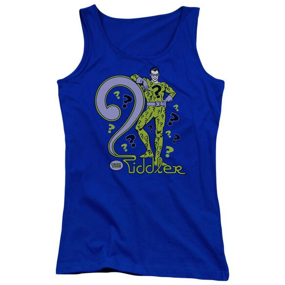 Dc The Riddler Juniors Tank Top Royal