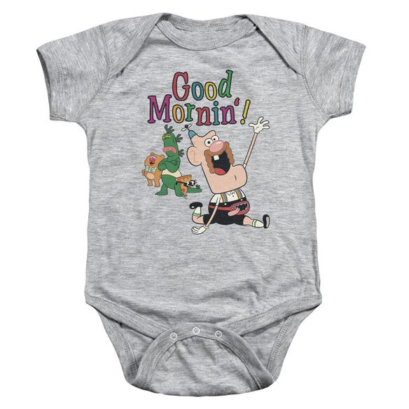 Uncle Grandpa Good Mornin Infant Snapsuit Athletic Heather