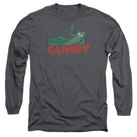 Gumby On Logo Long Sleeve Adult T-Shirt