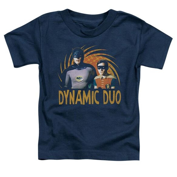 Batman Classic Tv Dynamic Short Sleeve Toddler Tee Navy T-Shirt