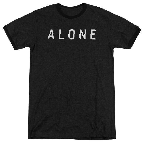 Alone Alone Logo Adult Ringer