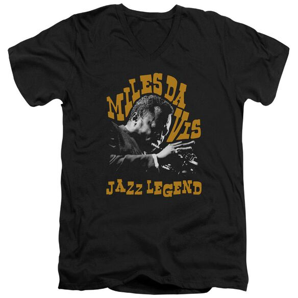 Miles Davis Jazz Legend Short Sleeve Adult V Neck T-Shirt