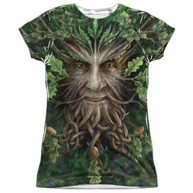 Anne Stokes Oak King Short Sleeve Junior Poly Crew T-Shirt