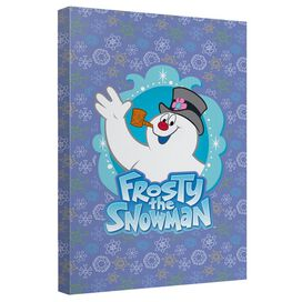 Frosty The Snowman Frosty The Snowman Canvas Wall Art With Back Board