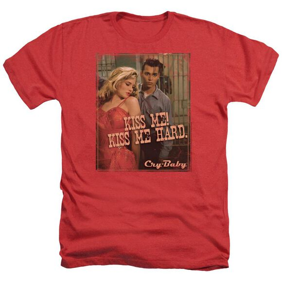 Cry Baby Kiss Me - Adult Heather - Red - Sm - Red