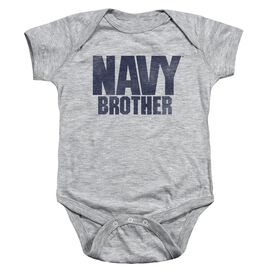 Navy Brother Infant Snapsuit Athletic Heather