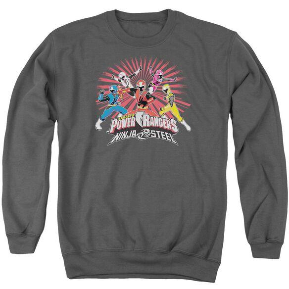 Power Rangers Ninja Blast Adult Crewneck Sweatshirt