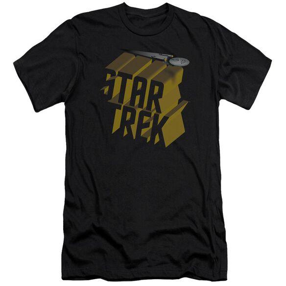 Star Trek 3 D Logo Premuim Canvas Adult Slim Fit