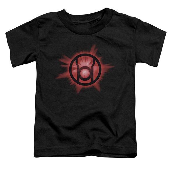 Green Lantern Red Glow Short Sleeve Toddler Tee Black Lg T-Shirt