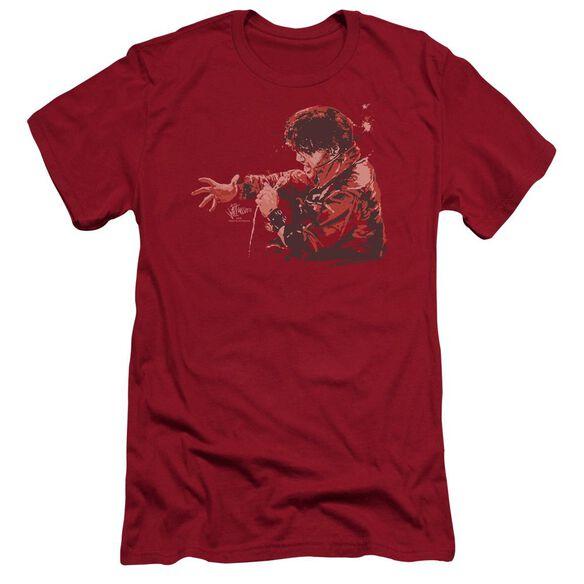 Elvis Red Comback Premuim Canvas Adult Slim Fit
