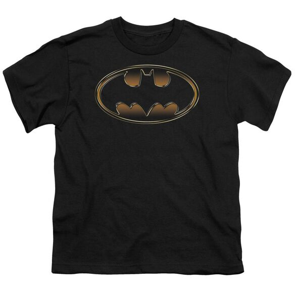 Batman & Gold Embossed Short Sleeve Youth T-Shirt