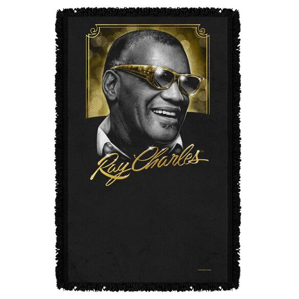 Ray Charles Golden Glasses Woven Throw