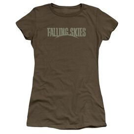 Falling Skies Distressed Logo Premium Bella Junior Sheer Jersey Military