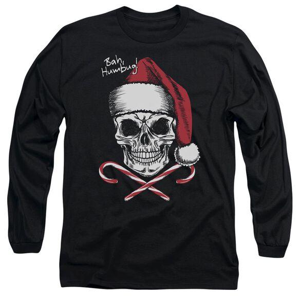 Skull Bah Humbug Long Sleeve Adult T-Shirt