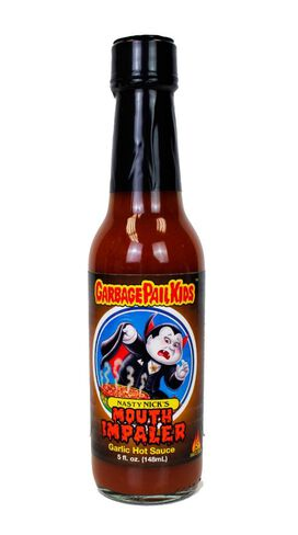 Garbage Pail Kids - Nasty Nick's Mouth-Impaler Garlic Hot Sauce
