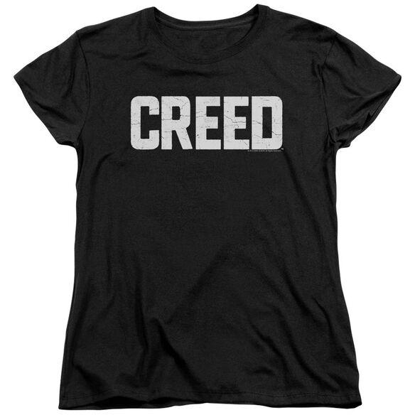 Creed Cracked Logo Short Sleeve Womens Tee T-Shirt