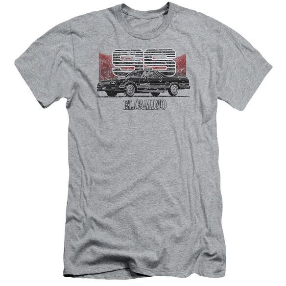 Chevrolet El Camino Ss Mountains Short Sleeve Adult Athletic T-Shirt