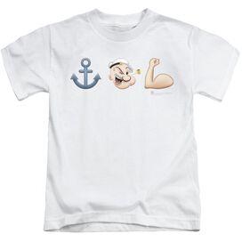 Popeye Emoji Short Sleeve Juvenile T-Shirt