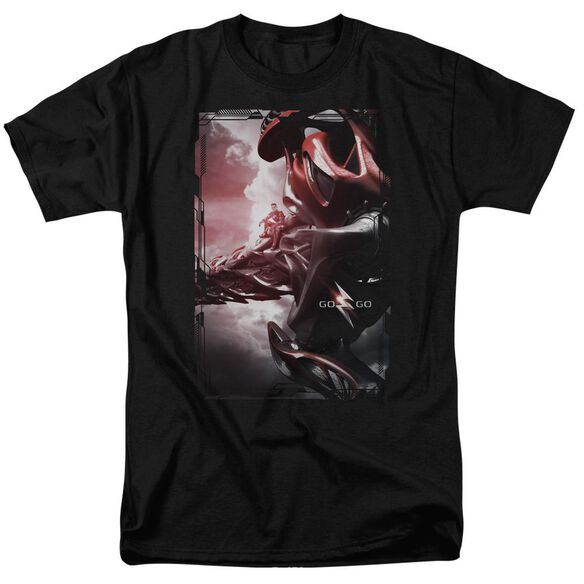Power Rangers Red Zord Poster Short Sleeve Adult T-Shirt