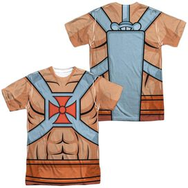 Masters Of The Universe He Man Costumes (Front Back Print) Short Sleeve Adult Poly Crew T-Shirt