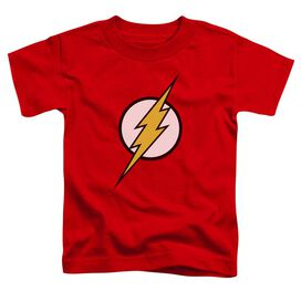 Jla Flash Logo Short Sleeve Toddler Tee Red Lg T-Shirt