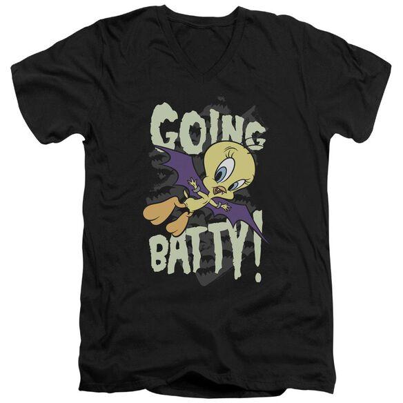 Looney Tunes Going Batty Short Sleeve Adult V Neck T-Shirt