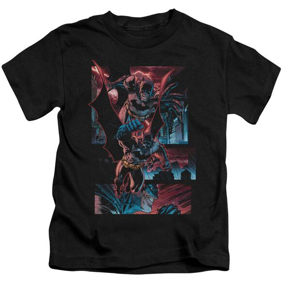 Batman Dark Knight Panels Short Sleeve Juvenile Black T-Shirt