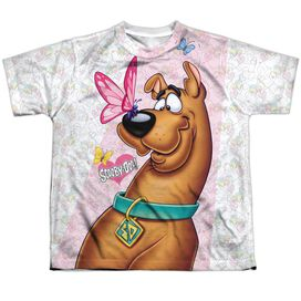 Scooby Doo Butterfly Short Sleeve Youth Poly Crew T-Shirt